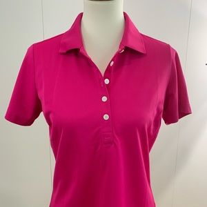 NikeGOLF M pink polo 5 buttons dri-fit